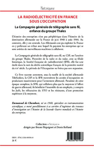 4eme La radioélectricité en France sous l'Occupation