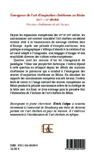 4eme Émergence de l'art d'inspiration chrétienne au Bénin (XVIIe - XXe siècles)