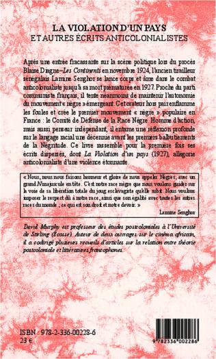 4eme La violation d'un pays et autres écrits anticolonialistes