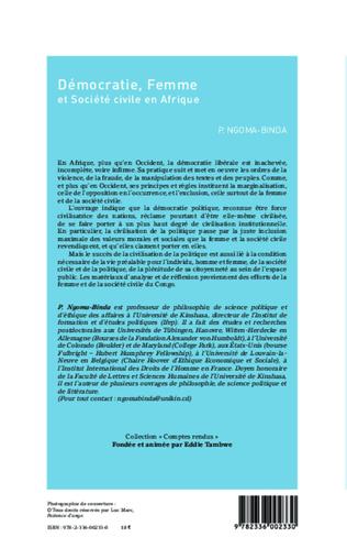 4eme Démocratie, Femme et Société civile en Afrique