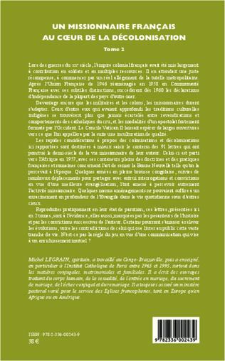 4eme Un missionnaire français au coeur de la décolonisation (Tome II)