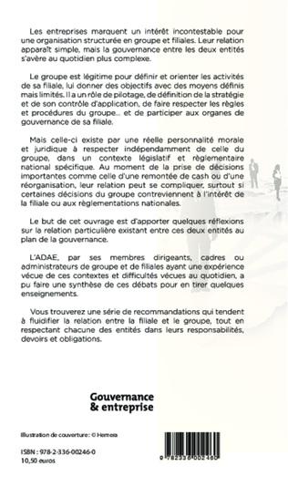 4eme Gouvernance et filiale de groupe