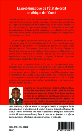 4eme La problématique de l'État de droit en Afrique de l'Ouest