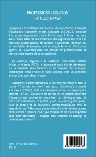 4eme Professionnalisation et e-learning