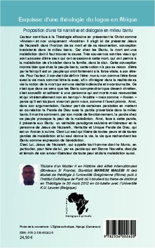 4eme Esquisse d'une théologie du logos en Afrique