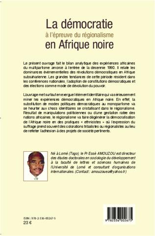 4eme La démocratie à l'épreuve du régionalisme en Afrique noire