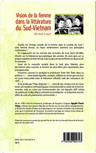 4eme Vision de la femme dans la littérature du Sud-Vietnam
