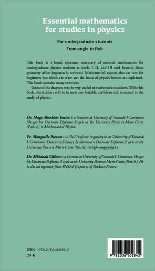 4eme Essential mathematics for studies in physics
