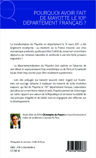 4eme Pourquoi avoir fait de Mayotte le 101e département français ?