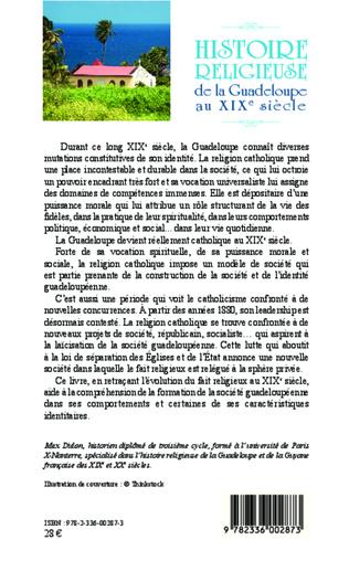 4eme Histoire religieuse de la Guadeloupe au XIX e siècle