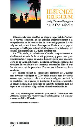 4eme Histoire religieuse de la Guyane Française au XIX e siècle
