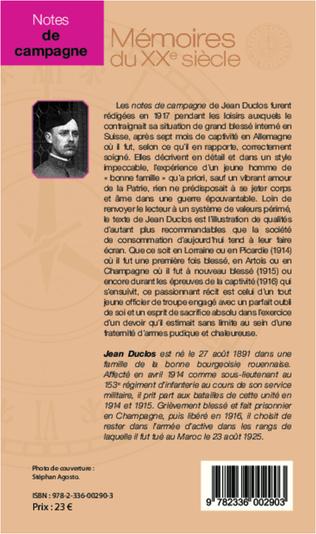 4eme Notes de campagne (1914-1916), suivies d'un épilogue (1917-1925)