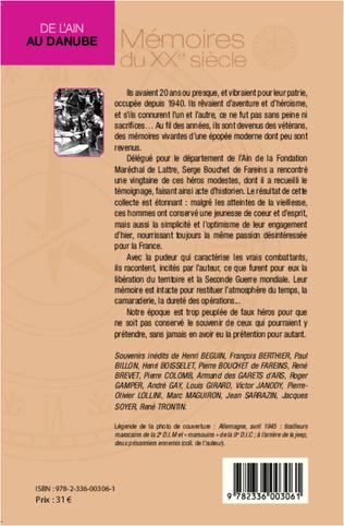 4eme De l'Ain au Danube. Témoignages de vétérans de la 1ère armée française (1944-1945)