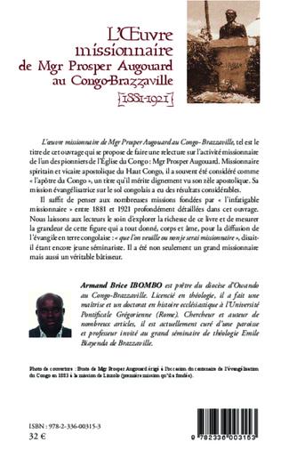 4eme L'oeuvre missionnaire de Mgr Prosper Augouard au Congo-Brazzaville
