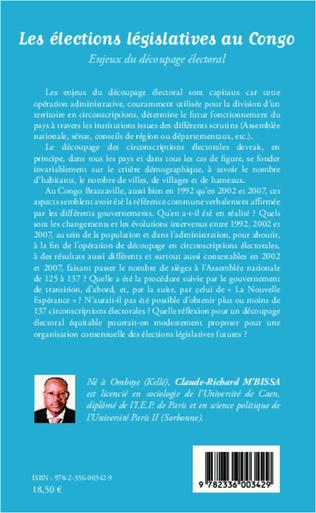 4eme Les élections législatives au Congo