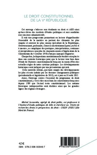 4eme Droit constitutionnel de la Ve République