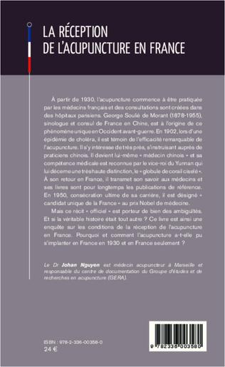 4eme La réception de l'acupuncture en France