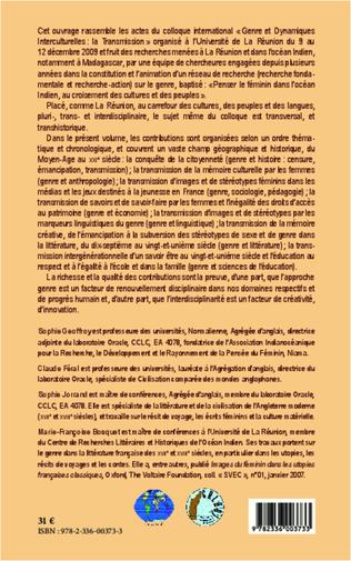 4eme Genre et dynamiques interculturelles : la transmission