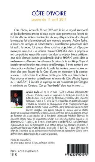 4eme Côte d'Ivoire Leçons du 11 avril 2012