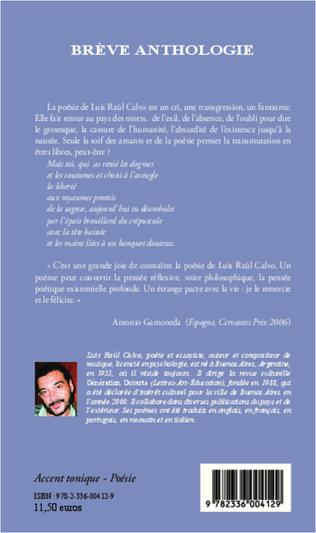 4eme Brève anthologie