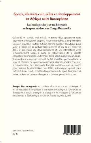 4eme Sports, identités culturelles et développement en Afrique noire francophone