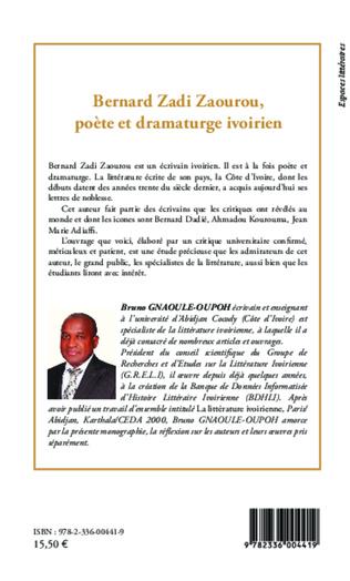 4eme Bernard Zadi Zaourou, poète et dramaturge ivorien