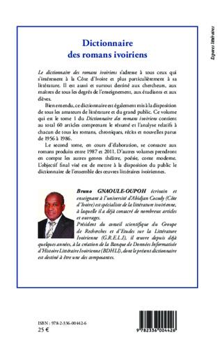4eme Dictionnaire des romans ivoiriens