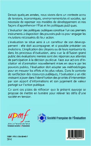 4eme L'évaluation des politiques publiques