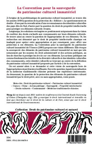 4eme La Convention pour la sauvegarde du patrimoine culturel immatériel