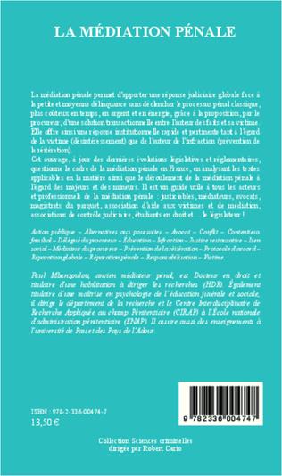 4eme Médiation pénale (Nouvelle édition)