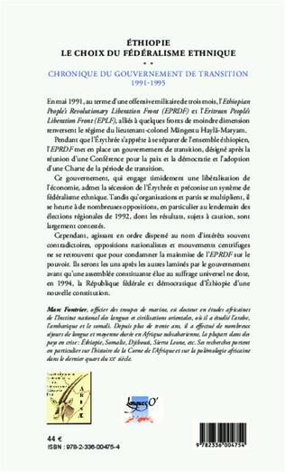 4eme Ethiopie le choix du fédéralisme ethnique