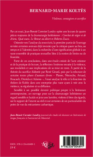 4eme Bernard-Marie Koltès