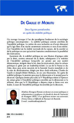 4eme De Gaulle et Mobutu