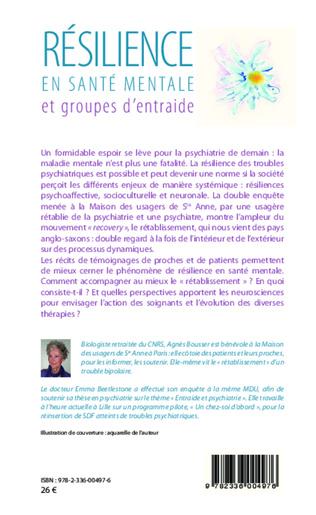 4eme Résilience en santé mentale et groupes d'entraide