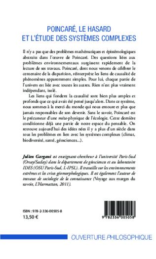 4eme Poincaré, le hasard et l'étude des systèmes complexes