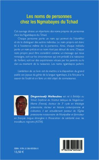 4eme Les noms de personnes chez les Ngambayes du Tchad
