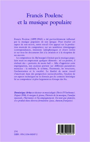 4eme Francis Poulenc et la musique populaire