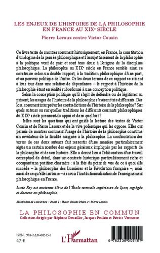 4eme Les enjeux de l'histoire de la philosophie en France au XIX e siècle