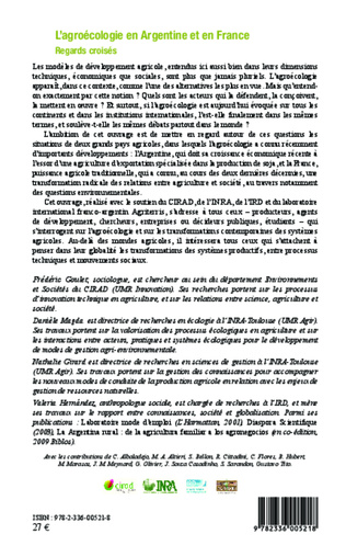 4eme Agroécologie en Argentine et en France