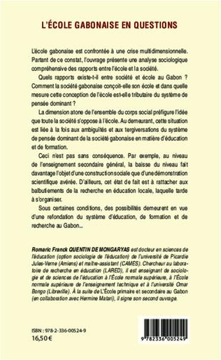 4eme L'école gabonaise en questions