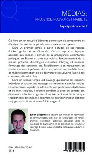 4eme Médias: influence, pouvoir et fiabilité