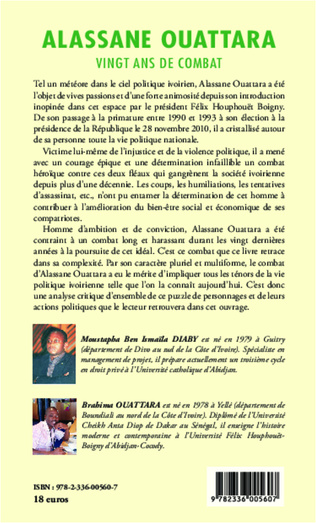 4eme Alassane Ouattara vingt ans de combat