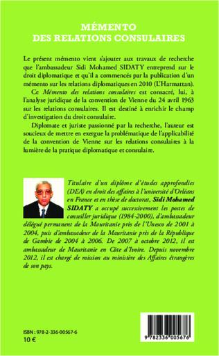 4eme Mémento des relations consulaires