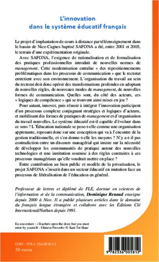4eme L'innovation dans le système éducatif français