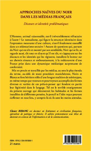 4eme Approches naïves du Noir dans les médias français