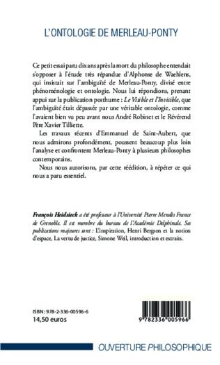 4eme L'ontologie de Merleau-Ponty
