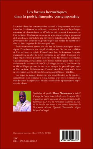 4eme Les formes hermétiques dans la poésie française contemporaine