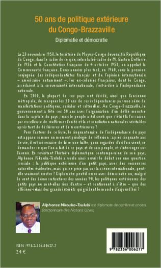 4eme 50 ans de politique extérieure du Congo-Brazzaville