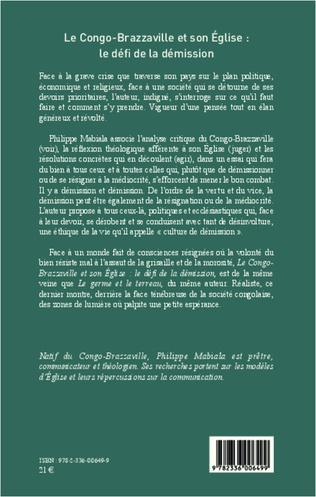 4eme Congo-Brazzaville et son église : le défi de la démission