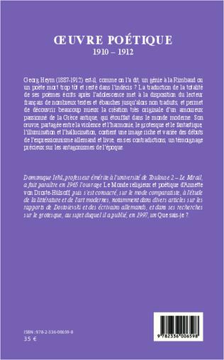 4eme Oeuvre poétique 1910-1912